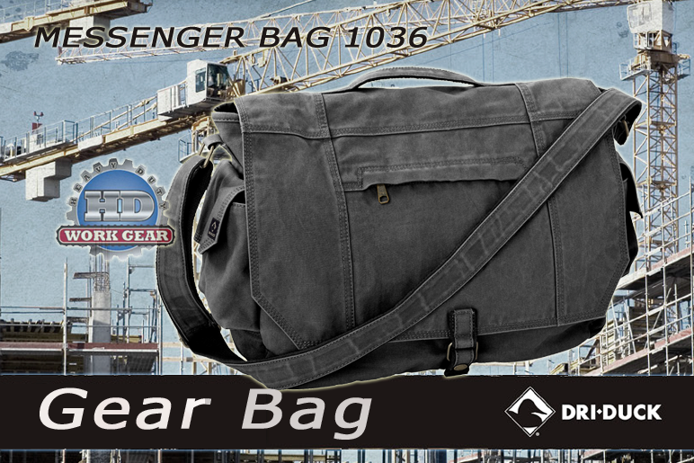 Dri Duck Messenger Charcoal 1036