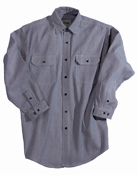 Key Industries Hickory Stripe Logger Button Shirt 575.47